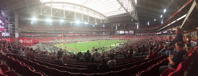 The Arizona Cardinals vs. The New Orleans Saints at University of Phoenix Stadium on September 13, 2015
